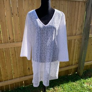 Lace Long Sleeve Coverup